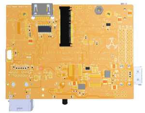 mini-amber board bottom side